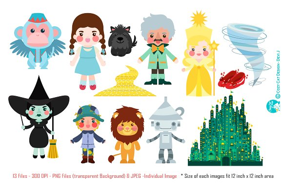 Digital Clipart Wizard Of Oz.