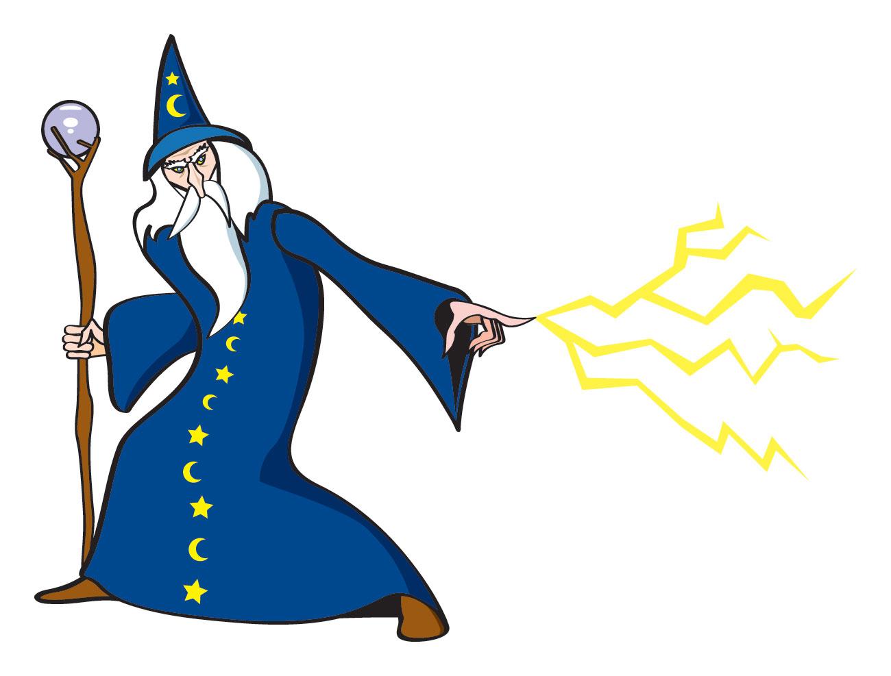Wizard Clipart short 2.