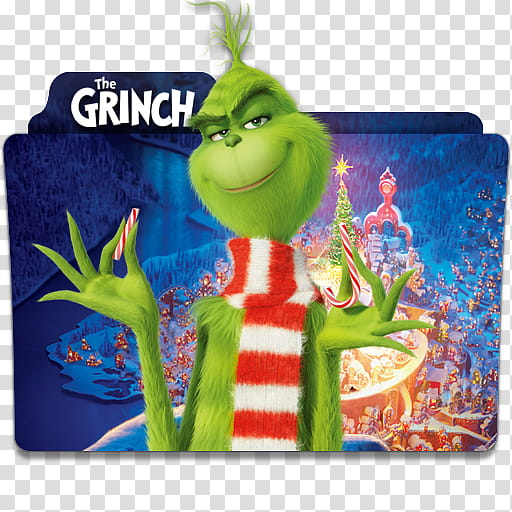 The Grinch Folder Icon , The Grinch v wo logo transparent.