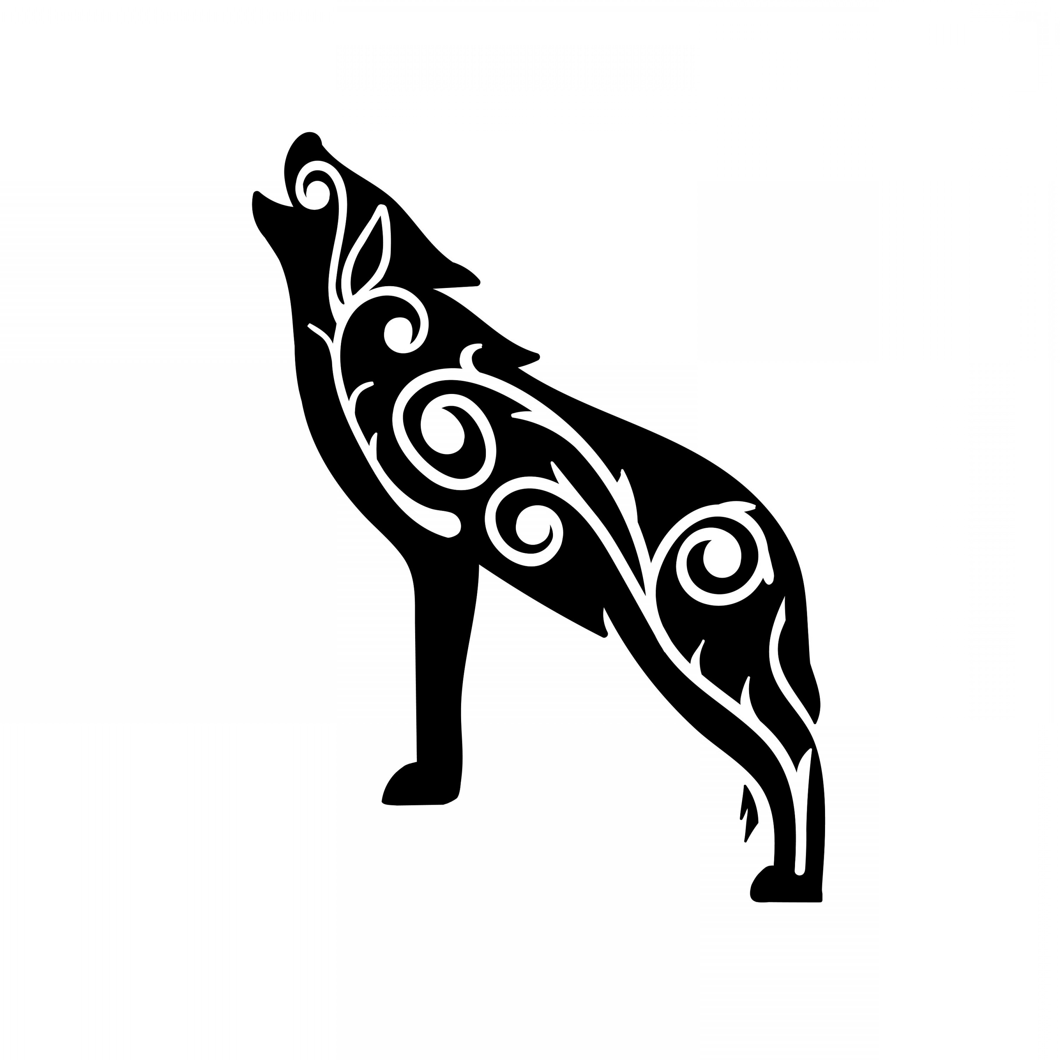 Tribal Wolf Clipart Wolf Silhouette Svg.