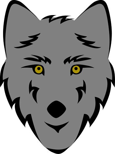 clipart wolf.