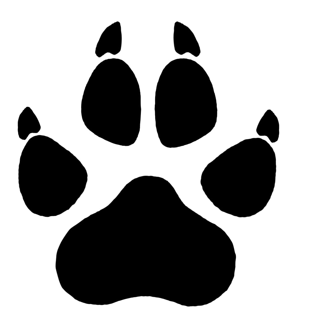 Wolf paw clipart 1 » Clipart Station.