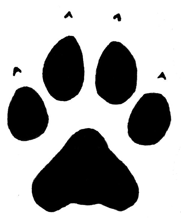 Free Wolf Paw Print, Download Free Clip Art, Free Clip Art.