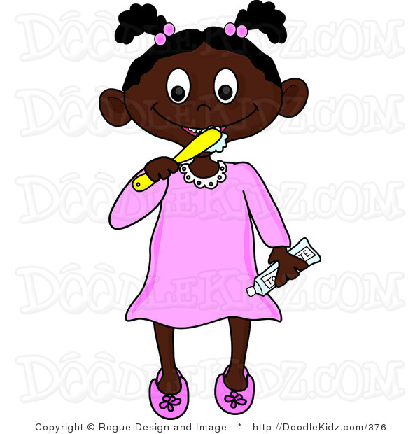 Showing post & media for Black girl brushing teeth cartoon.