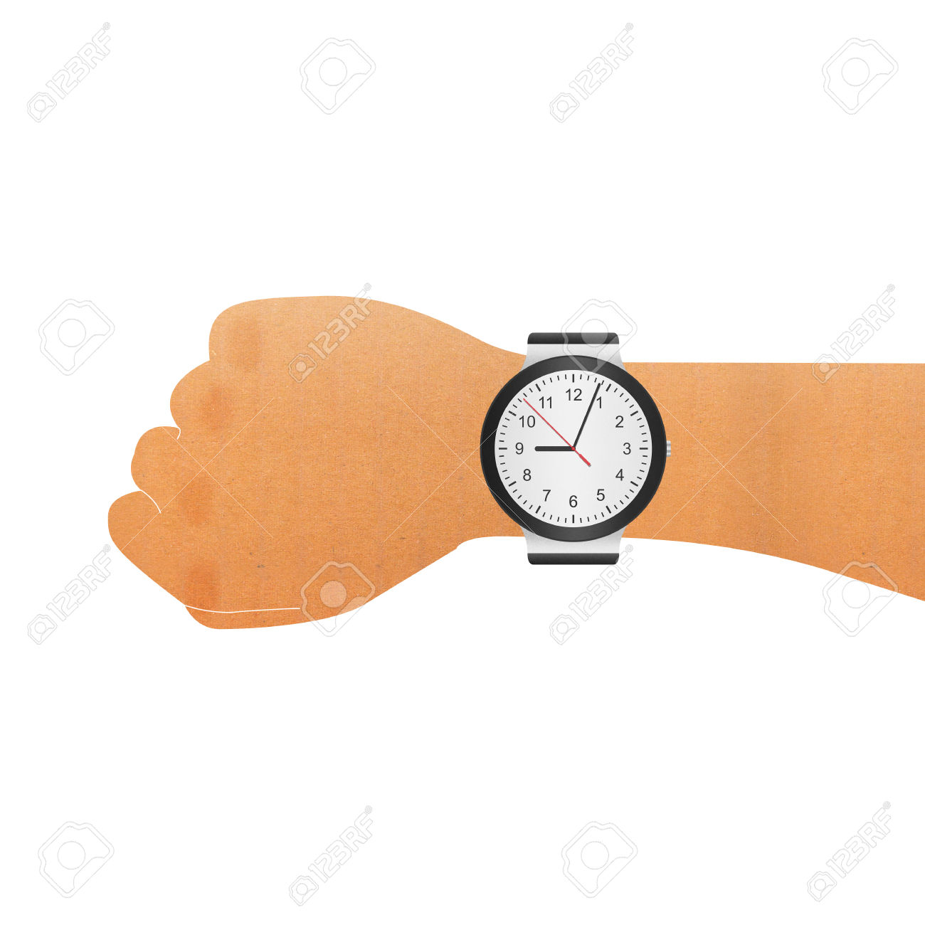 Checking Watch Clipart.