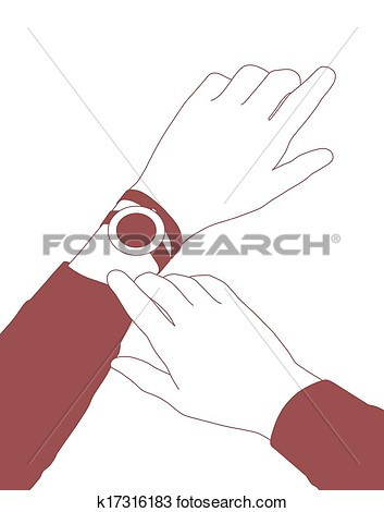 Clipart Woman Checking The Time.