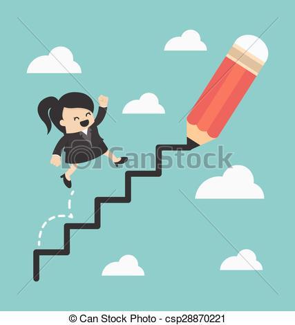 Woman Ladder Clipart.