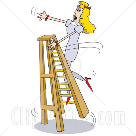 Falling Off Ladder Cartoon Pictures to Pin on Pinterest.
