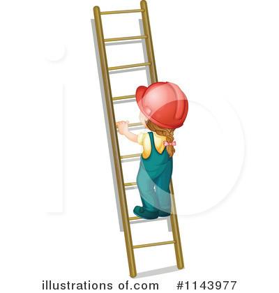 Climbing A Ladder Clipart.