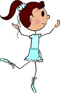 stick person girl clipart #7