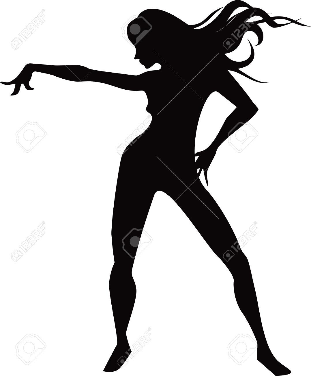 Dancing Lady Clip Art.