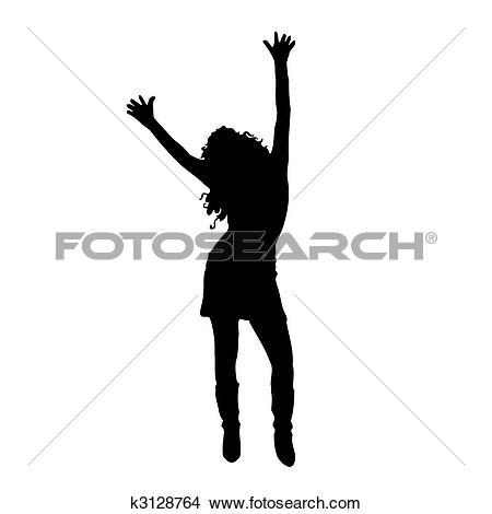 Clip Art of The girl dancing east dance.Vector illustration.