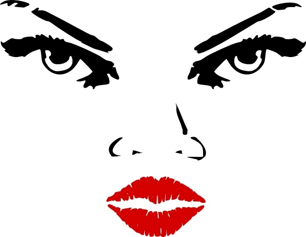 Woman Eyes clip art Free vector in Open office drawing svg ( .svg.