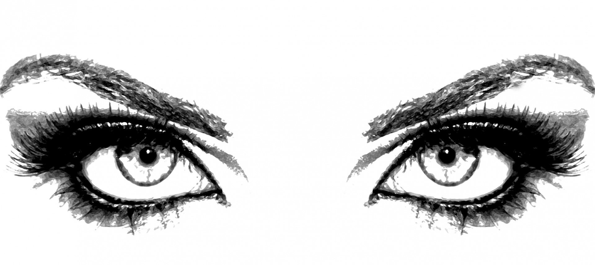 Eyes Of Woman Clipart Free Stock Photo.