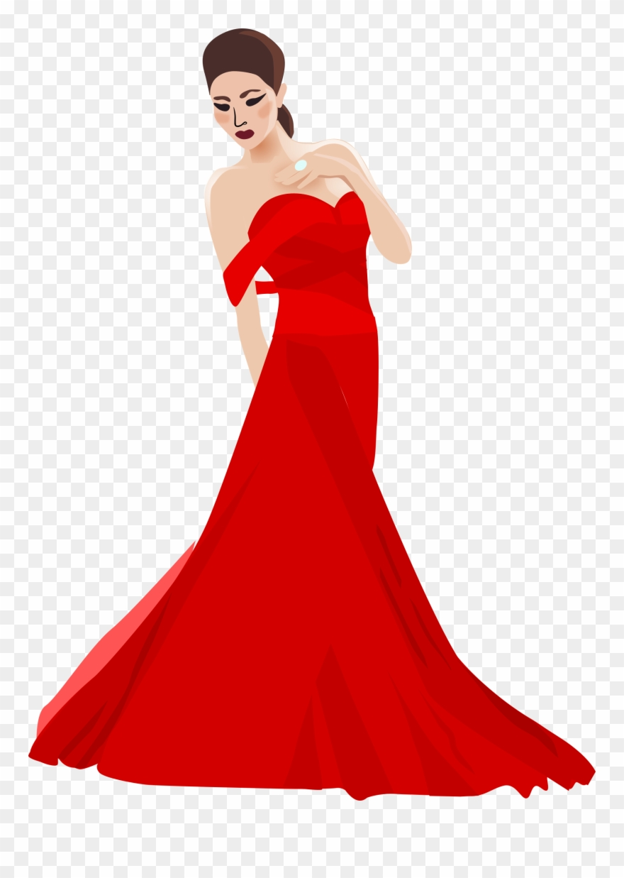 Woman In Dress Clip Art.