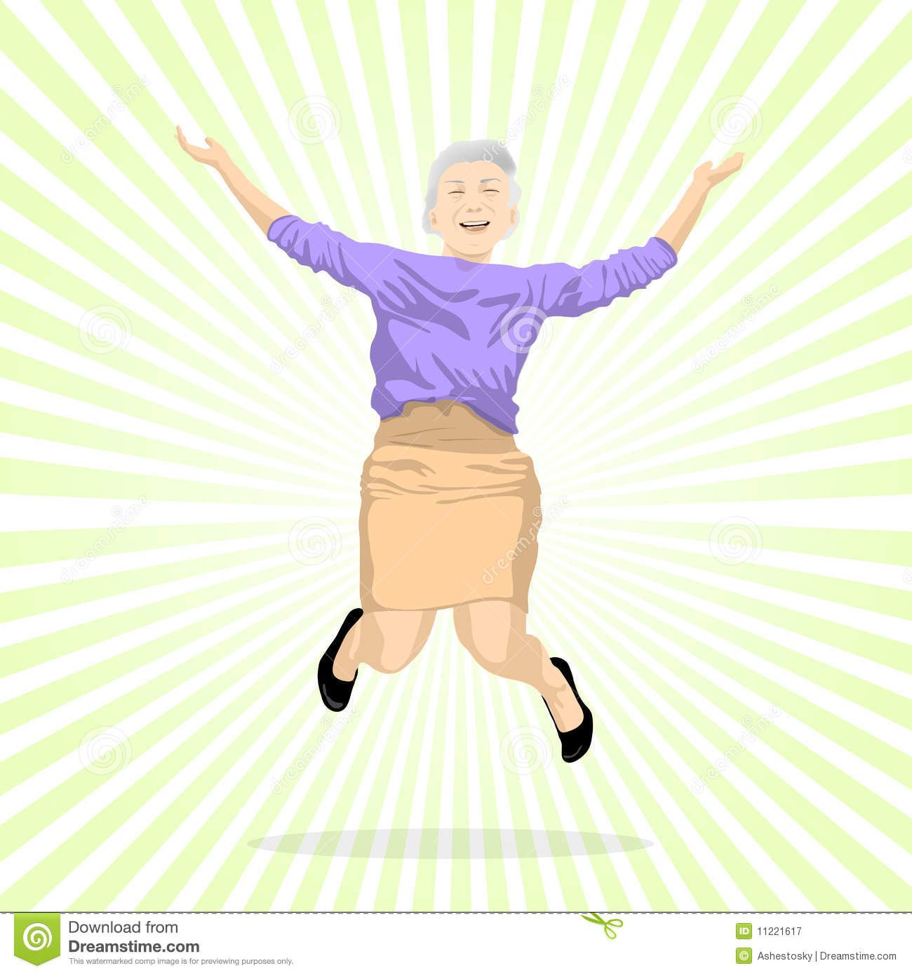Woman jumping for joy clipart