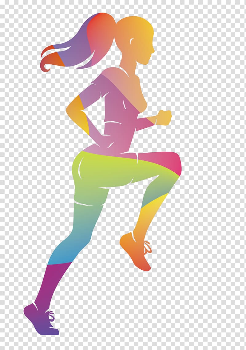 Running Athlete Sport, colorful women sports runners.