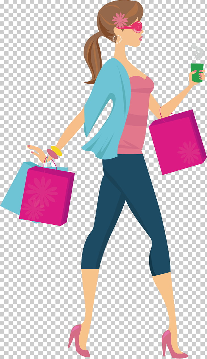 Shopping Girl Woman , Shopping fashion girl, shopping PNG.