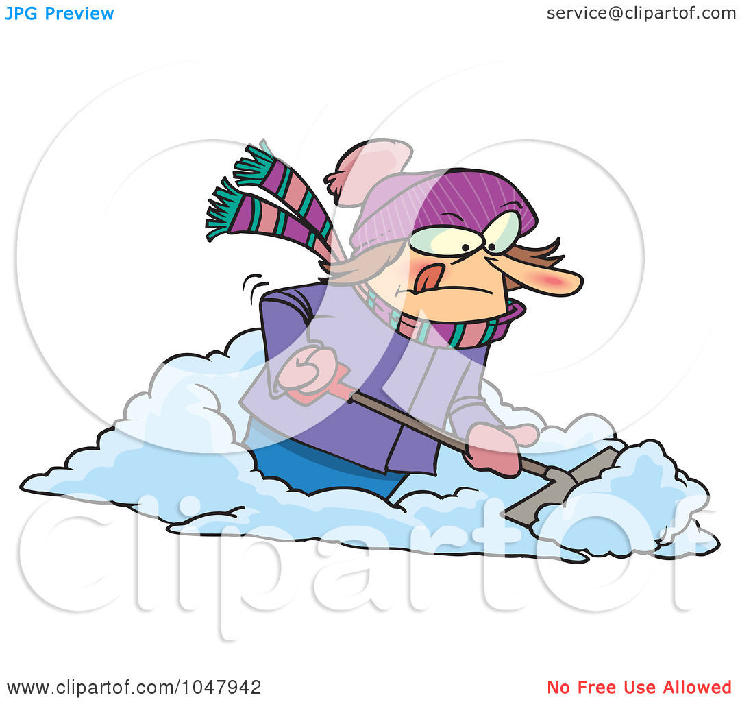 Showing post & media for Cartoon woman shoveling snow clip art.