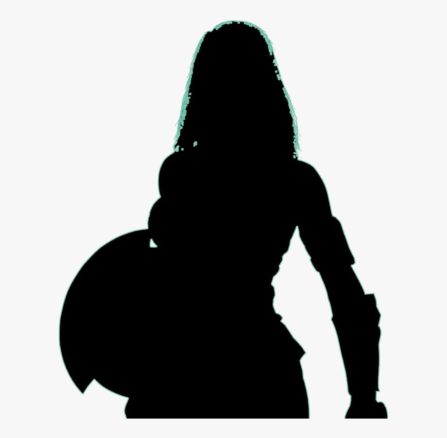 Wonder Woman Clipart Silhouette.