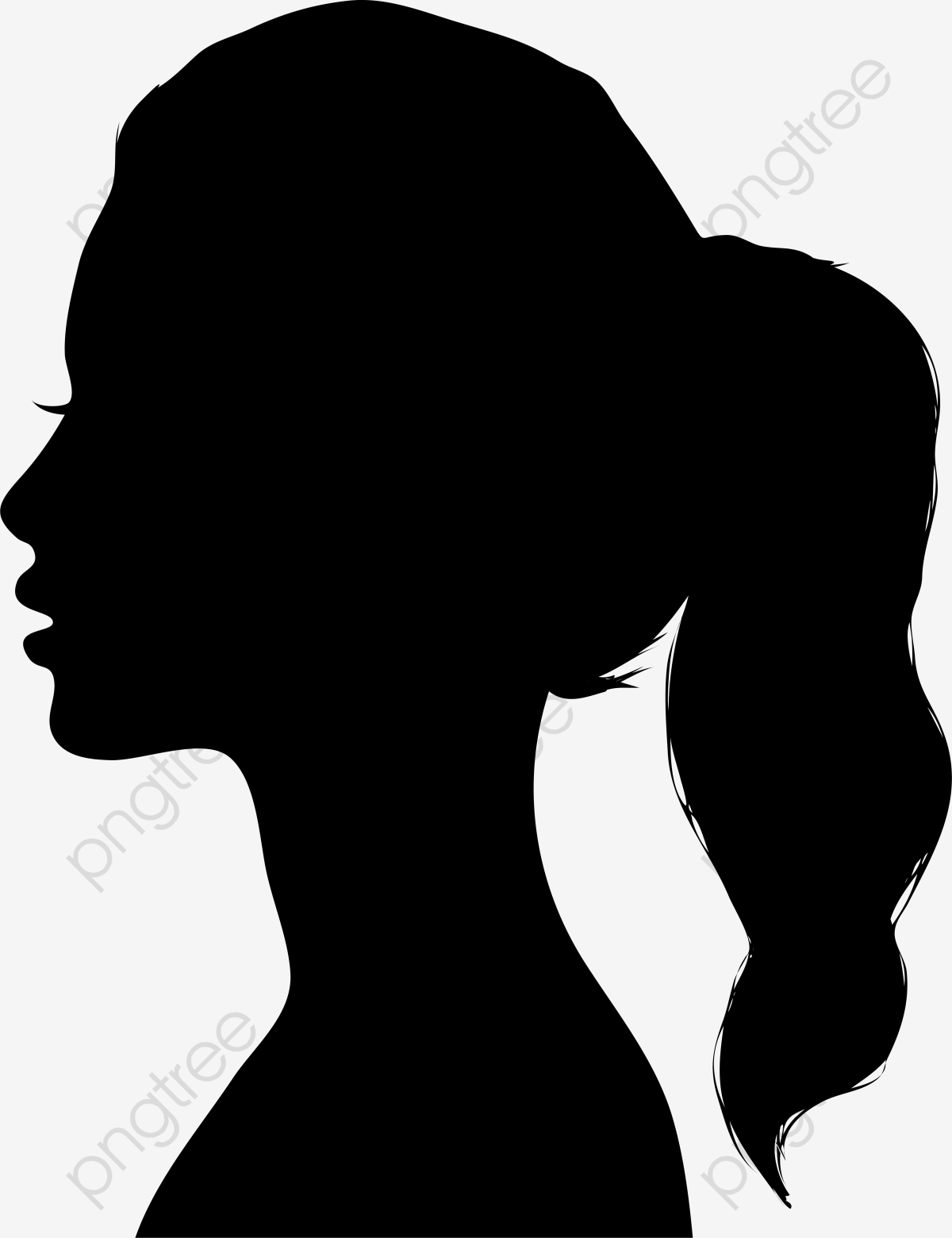 Woman Silhouette Material, Woman Clipart, Silhouette, Girl.