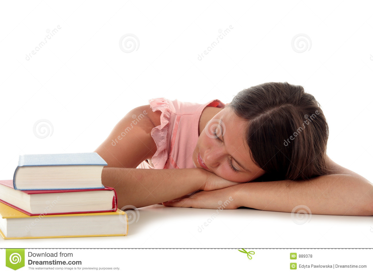 Picture Of Person Sleeping At Desk.