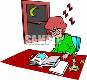 Sleeping At Desk Clipart.