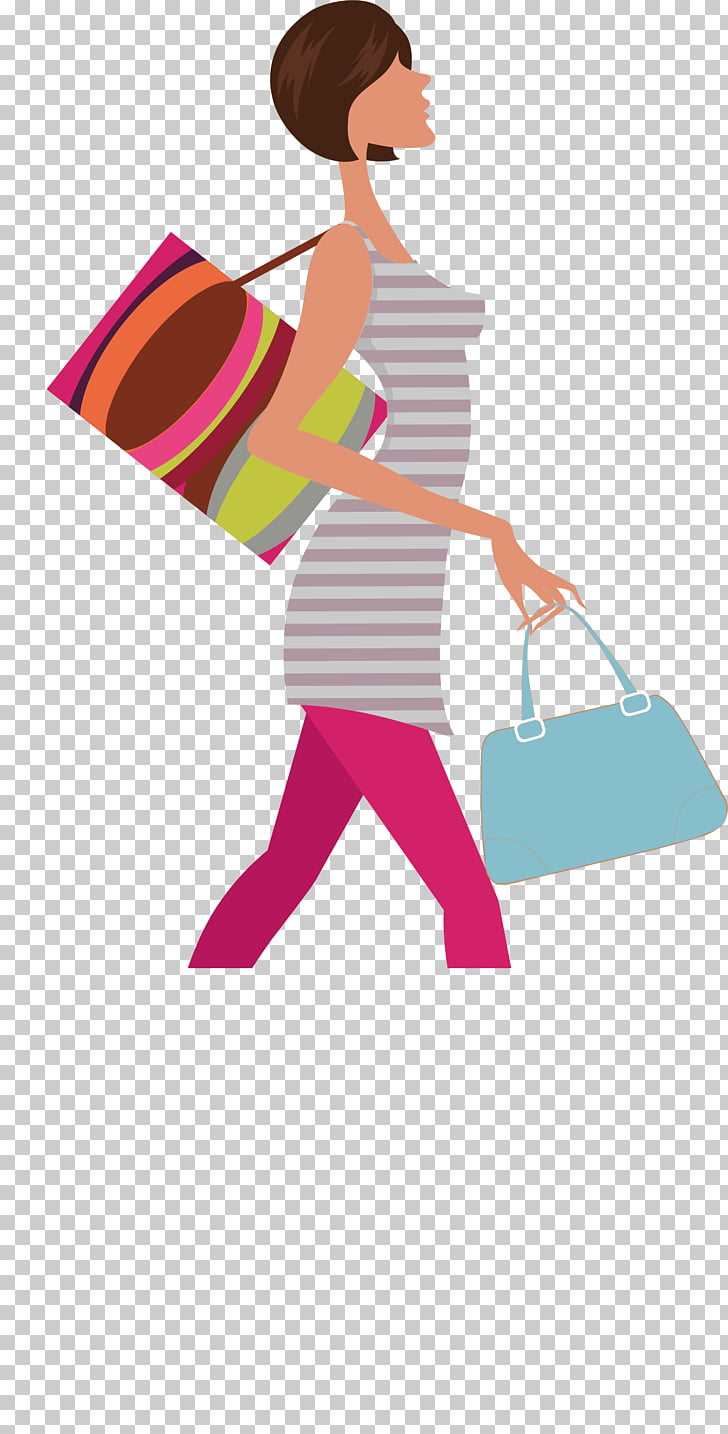 Fashion Woman , Walking rich woman PNG clipart.