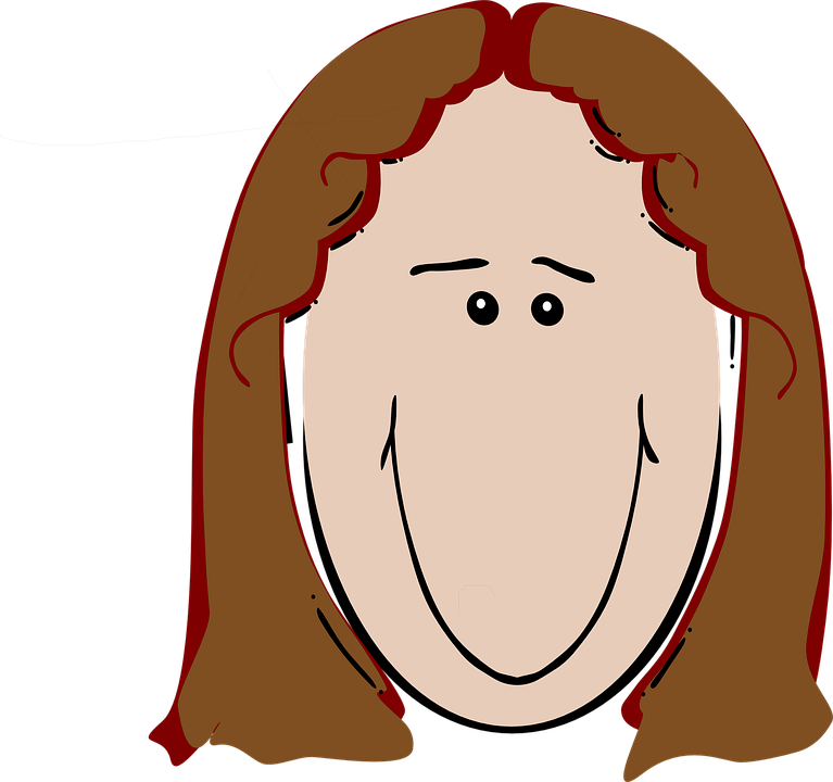 Free vector graphic: Female, Brown Hair, Happy, Reddish.