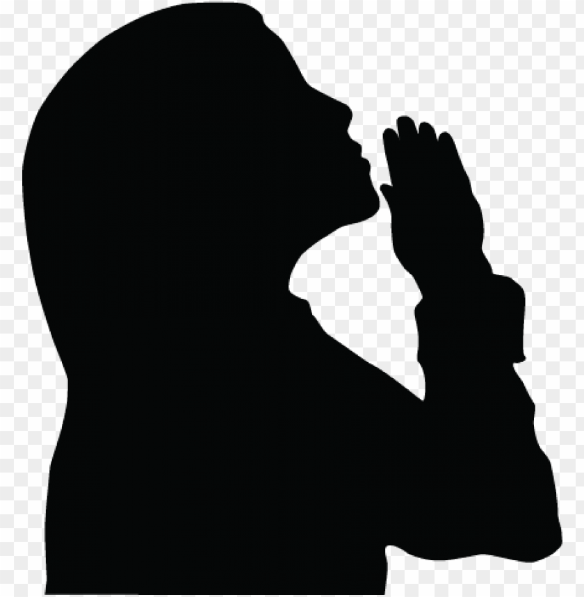 irl praying silhouette clipart.