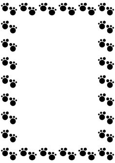 Border clip art featuring cute pandas, bamboo, and paw prints.