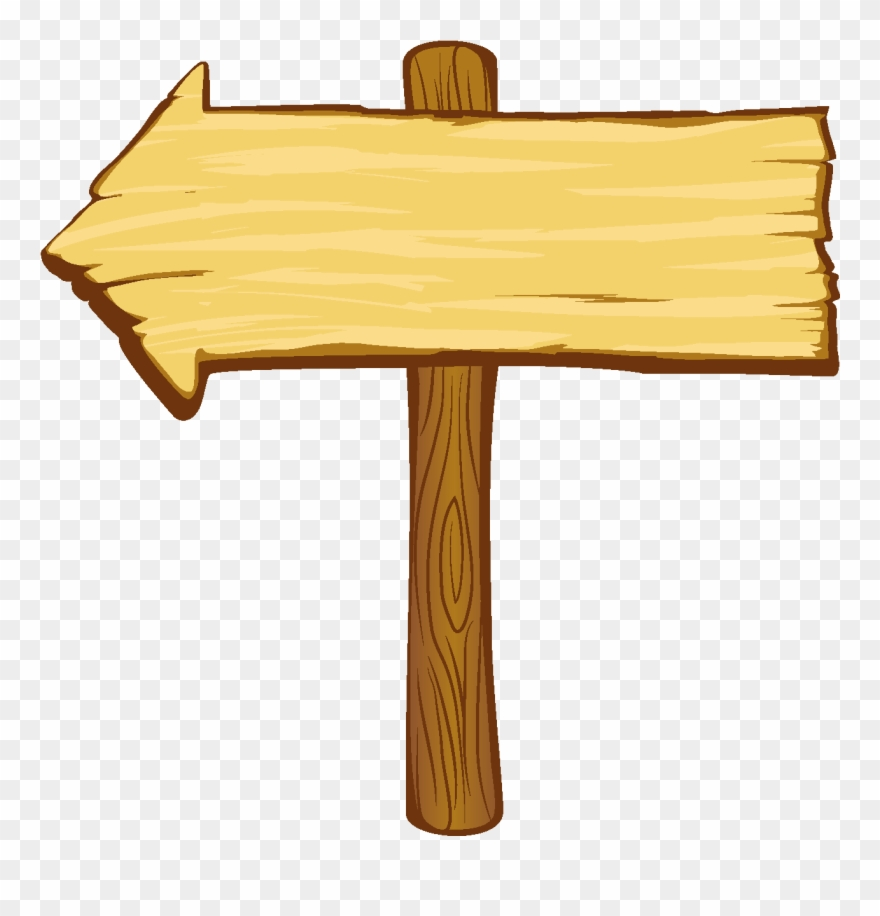 Vector Hand Drawn Wooden Board Pointing To Logo.