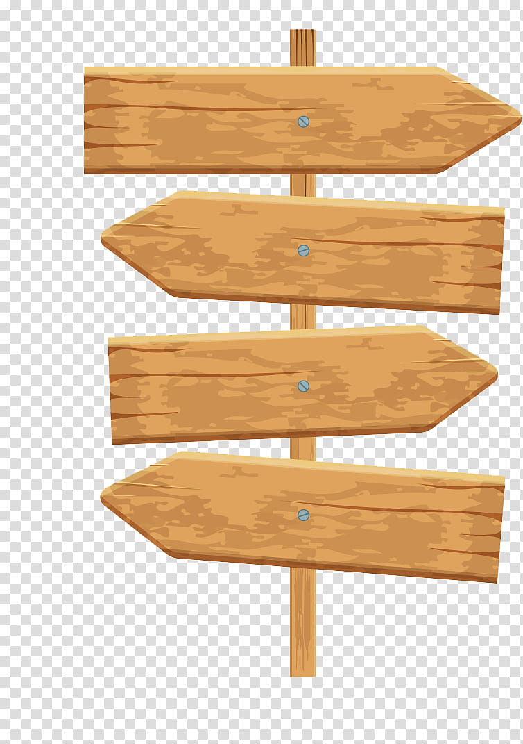 Wooden Signs, brown wooden road arrow sign transparent.