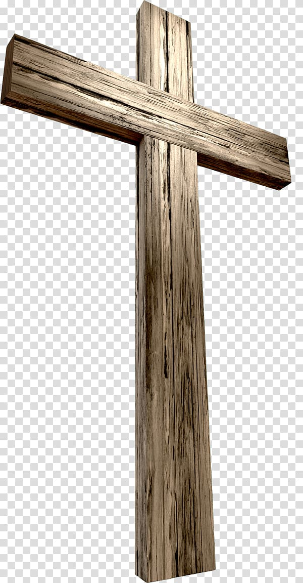 Brown wooden cross, Christian cross Crucifixion of Jesus.