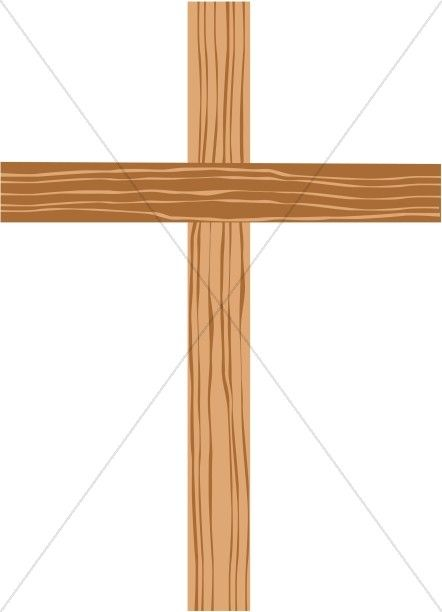 Wooden Cross with Shades of Brown.