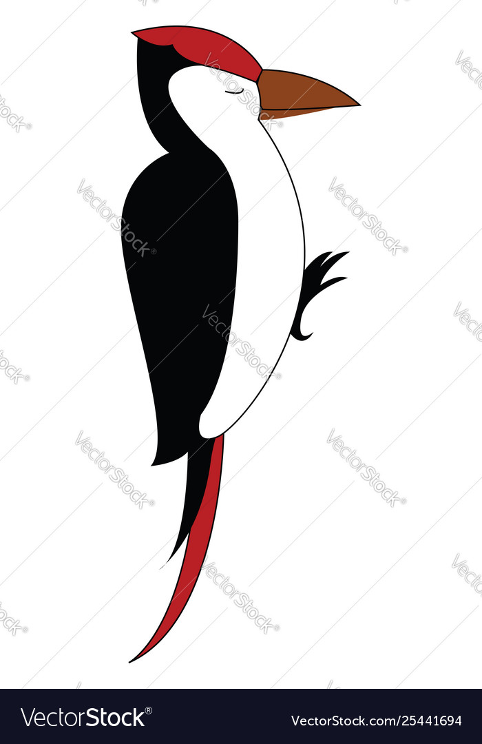 Clipart woodpecker bird with eyes closed.