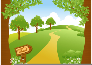 Path In Woods Clipart.