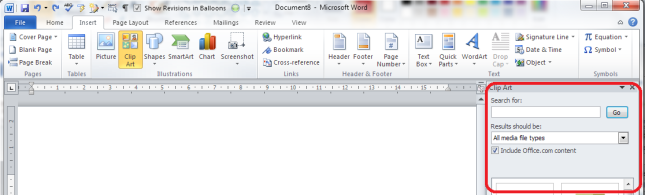 Clipart bei word 2010.