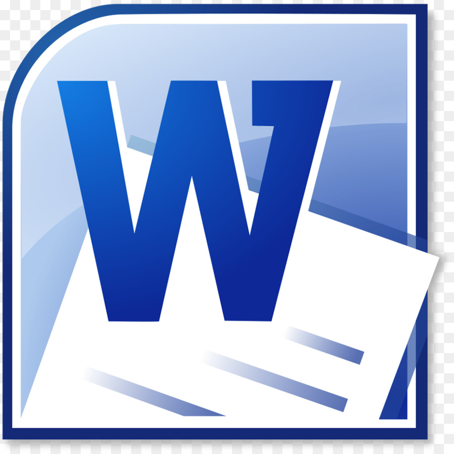 Microsoft Word Blue png download.