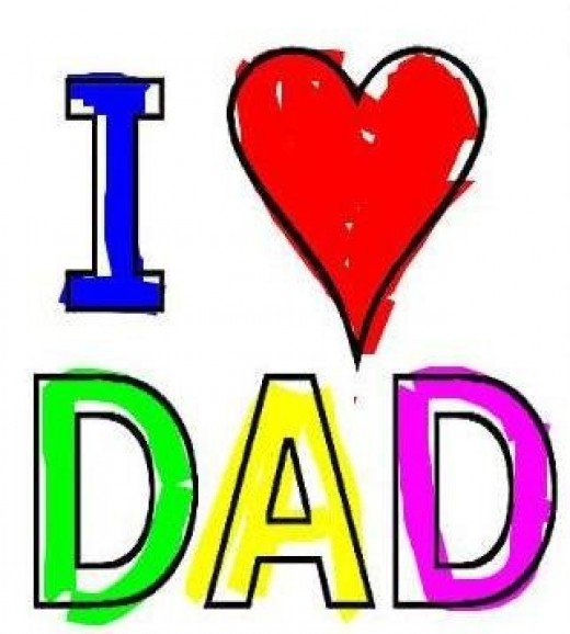 Dad Word Clipart.
