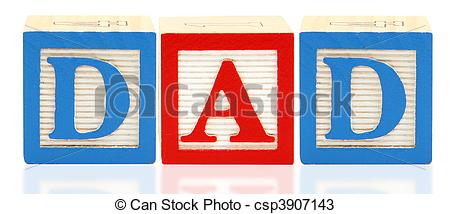 Stock Photos of Alphabet Blocks DAD.