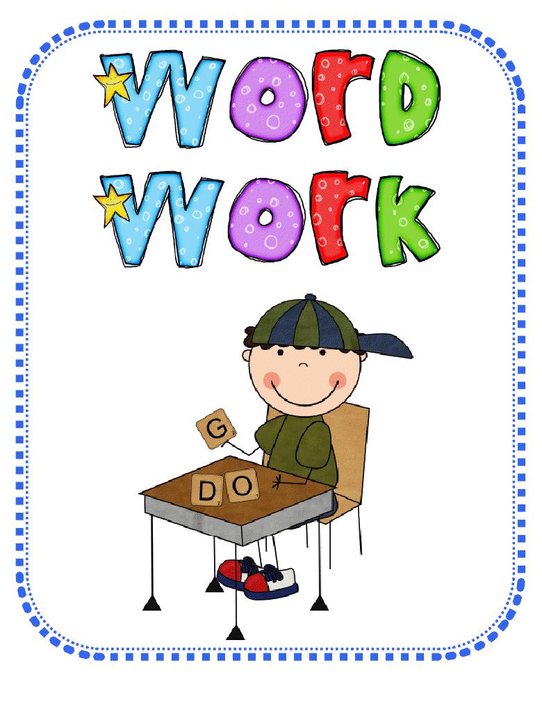 Word Work Clip Art.