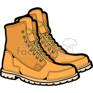 mens work boots in color clipart. Royalty.
