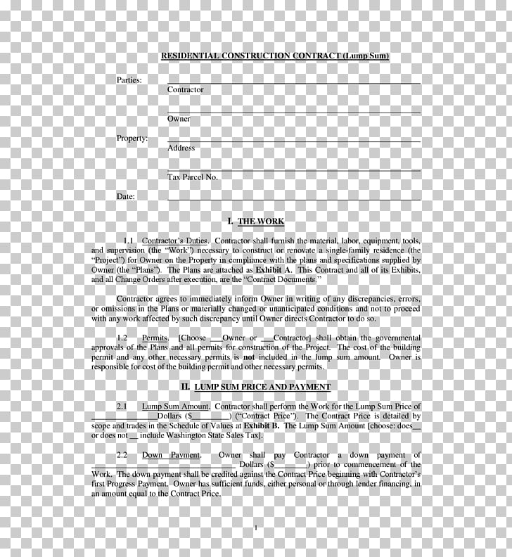 Construction contract Form Architectural engineering.