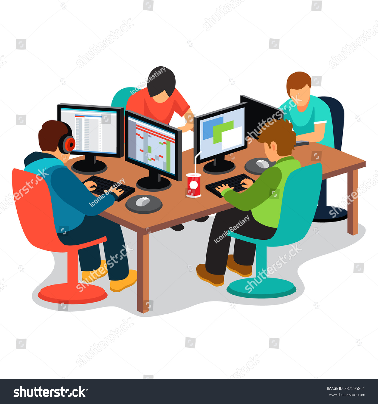 Gallery For Clip Art People Working.
