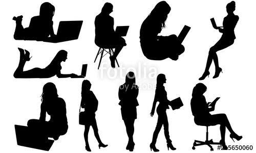 Working Women Silhouette.