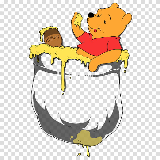 Bear, Tshirt, Winniethepooh, Pocket, Clothing, Cartoon, Work.