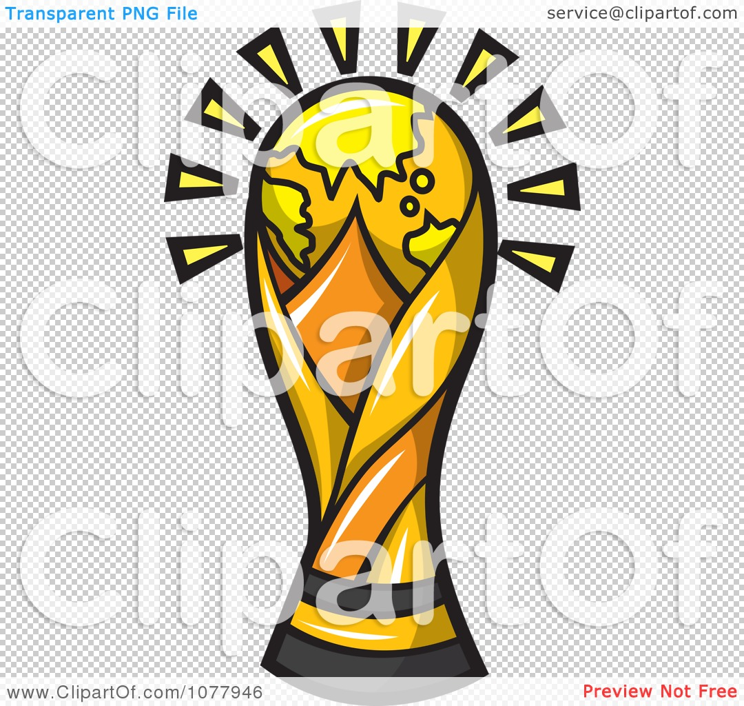Clipart Golden World Cup Trophy.