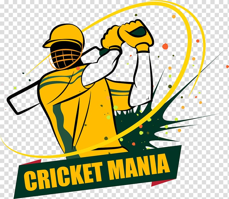 Cricket Mania logo illustration, Cricket World Cup Australia.