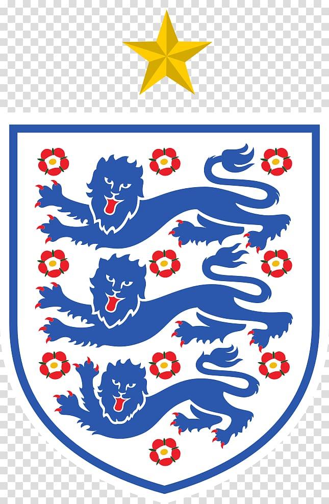 White and blue logo, Dream League Soccer England national.